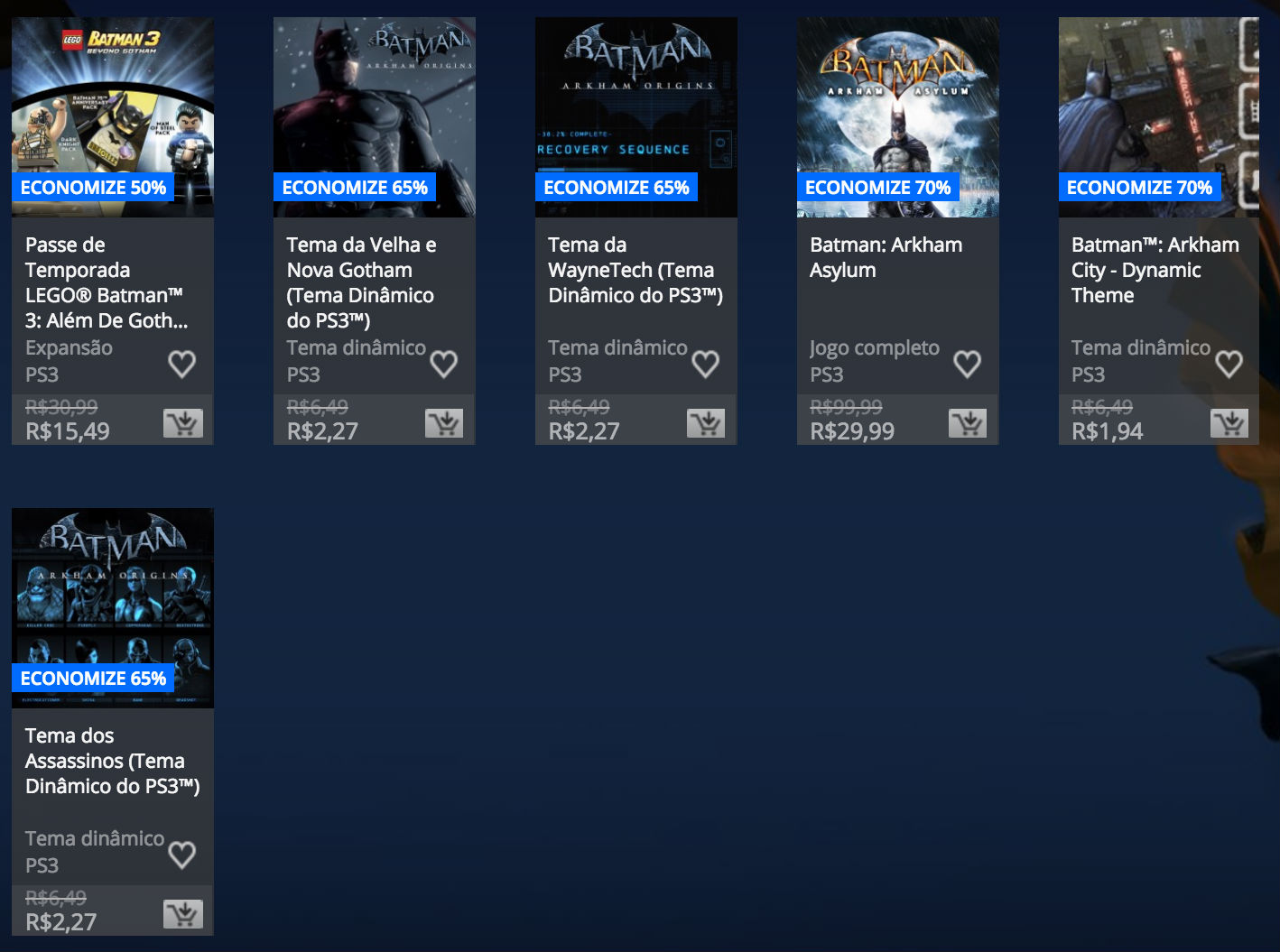 """Sony revela """"Promoção de Batman"""" na PlayStation Store; veja preços 5"""