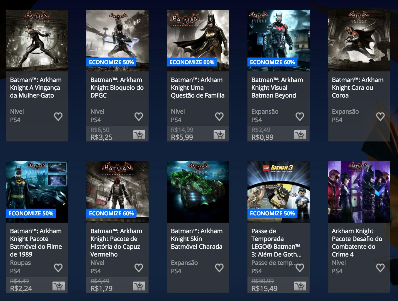 """Sony revela """"Promoção de Batman"""" na PlayStation Store; veja preços 1"""