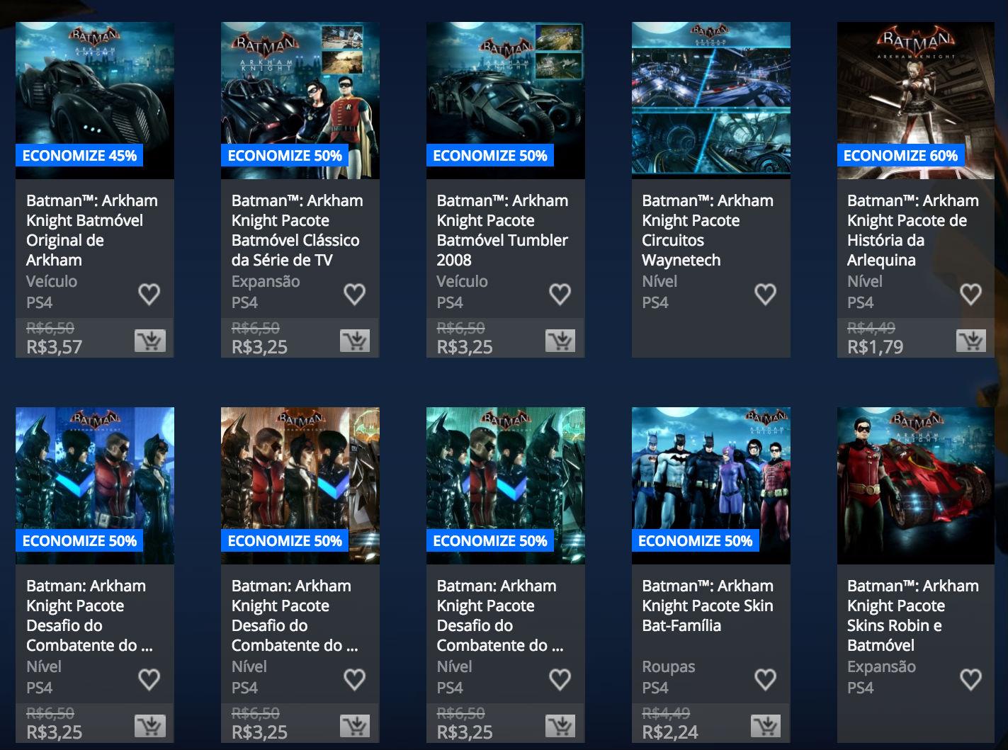 """Sony revela """"Promoção de Batman"""" na PlayStation Store; veja preços 2"""