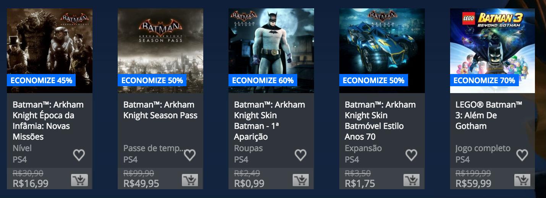 """Sony revela """"Promoção de Batman"""" na PlayStation Store; veja preços 3"""