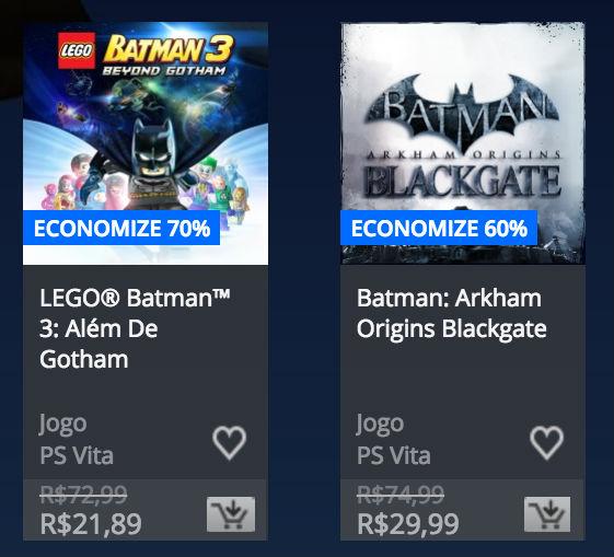 """Sony revela """"Promoção de Batman"""" na PlayStation Store; veja preços 6"""