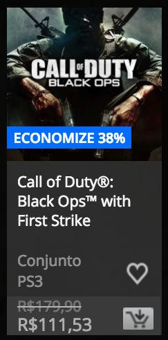 """Jogos da série """"Call of Duty"""" estão em promoção na PSN 3"""