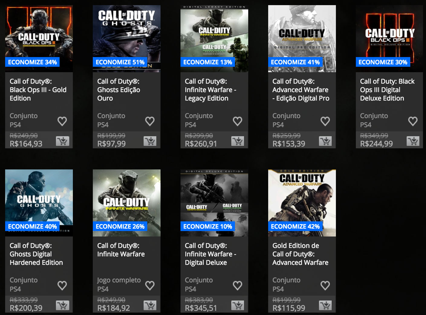 """Jogos da série """"Call of Duty"""" estão em promoção na PSN 1"""