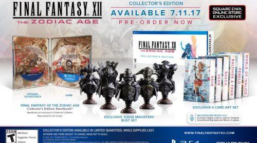 Belas! Edições especiais de Final Fantasy XII: The Zodiac Age são reveladas