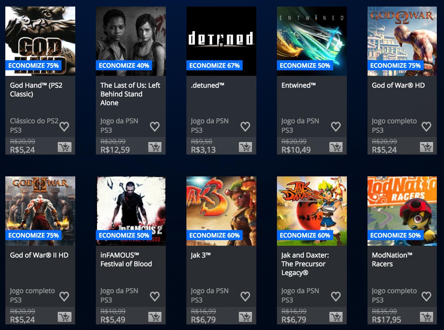 """Sony anuncia """"Promoção Somente no PlayStation"""" na PSN; veja preços 5"""