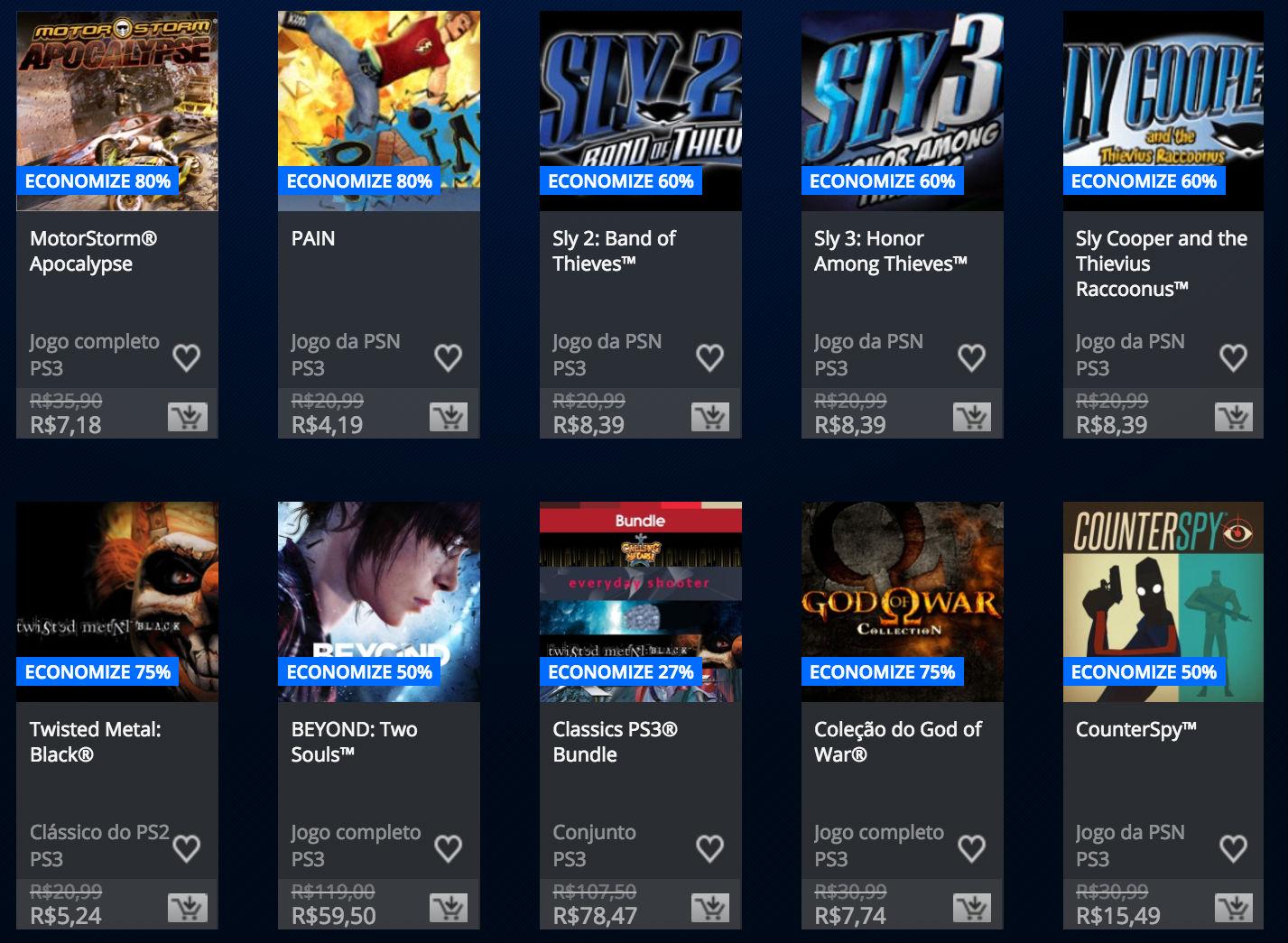 """Sony anuncia """"Promoção Somente no PlayStation"""" na PSN; veja preços 6"""