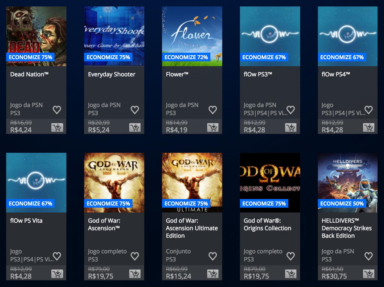 """Sony anuncia """"Promoção Somente no PlayStation"""" na PSN; veja preços 7"""