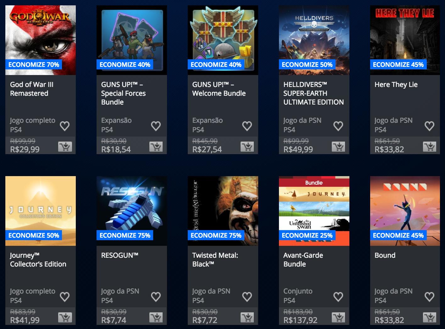 """Sony anuncia """"Promoção Somente no PlayStation"""" na PSN; veja preços 1"""