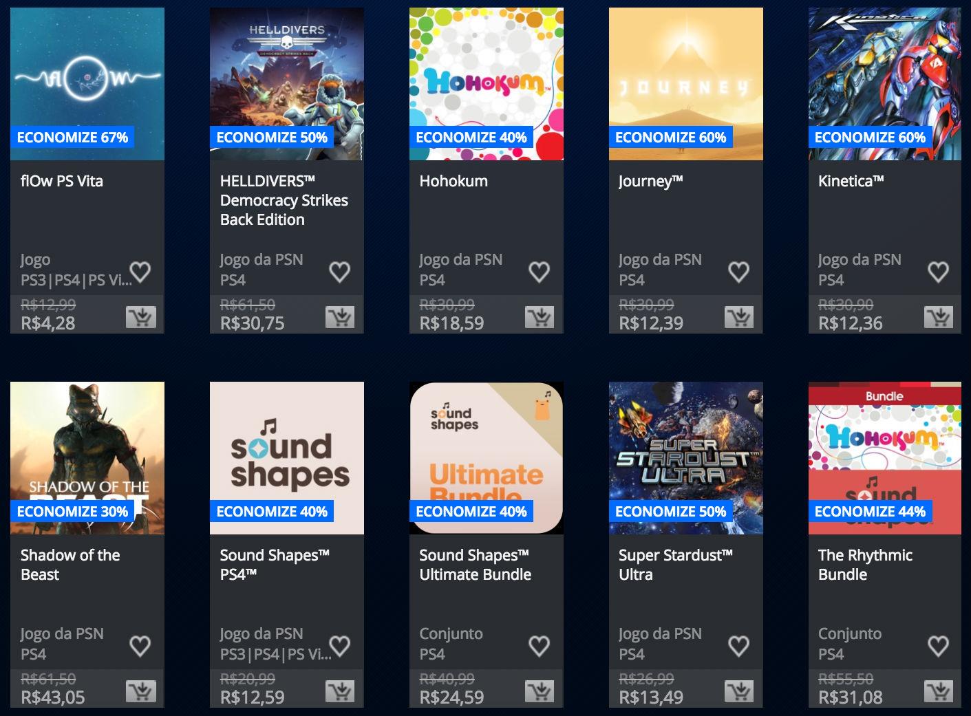 """Sony anuncia """"Promoção Somente no PlayStation"""" na PSN; veja preços 3"""