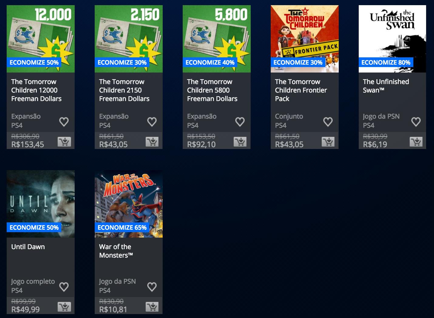 """Sony anuncia """"Promoção Somente no PlayStation"""" na PSN; veja preços 4"""