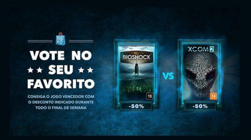 Vote No Seu Favorito: BioShock ou Xcom: Qual você quer desconto?