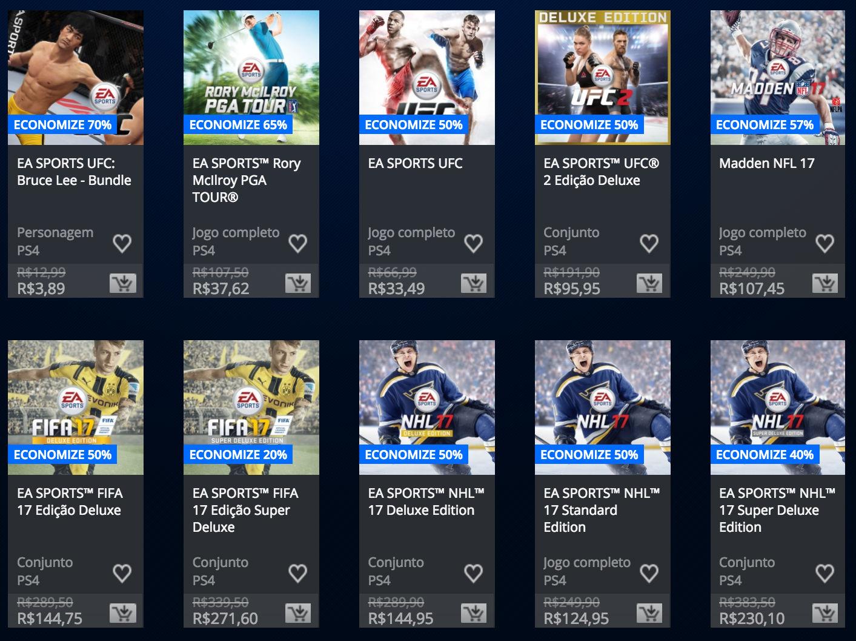"Sony anuncia ""Promoção EA Sports"" na PSN; confira lista 1"