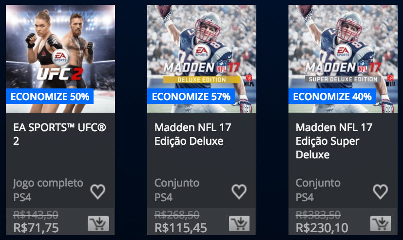 "Sony anuncia ""Promoção EA Sports"" na PSN; confira lista 2"