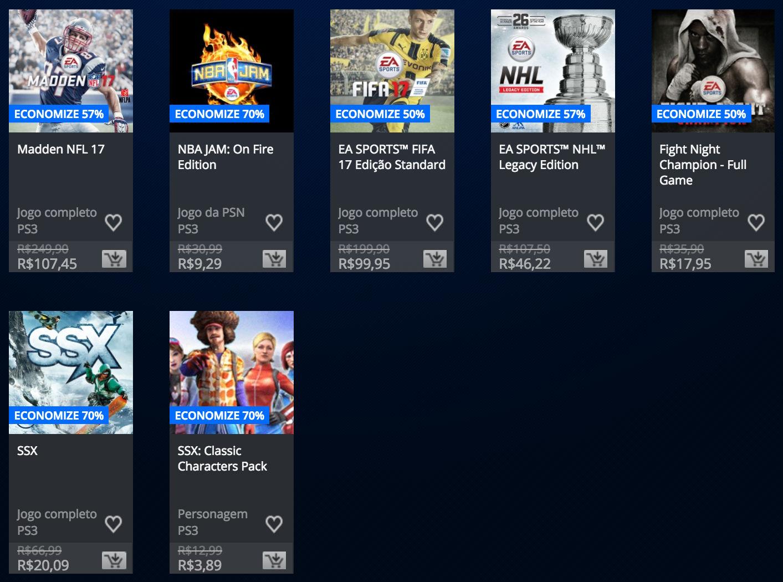 "Sony anuncia ""Promoção EA Sports"" na PSN; confira lista 3"