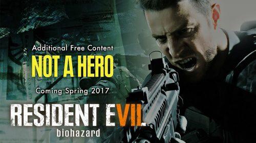 Not A Hero: DLC Gratuito de Resident Evil 7 é adiado