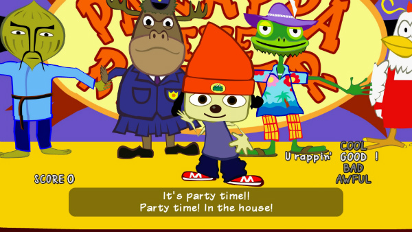 PaRappa The Rapper - Gameplay