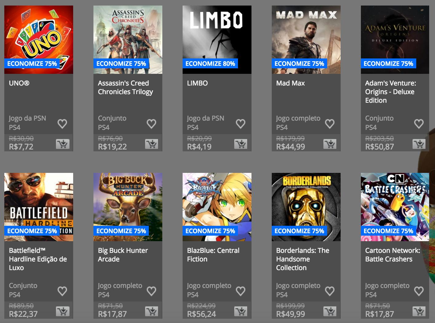 """Sony anuncia """"Promoção de Páscoa"""" na PSN; confira preços e jogos 1"""