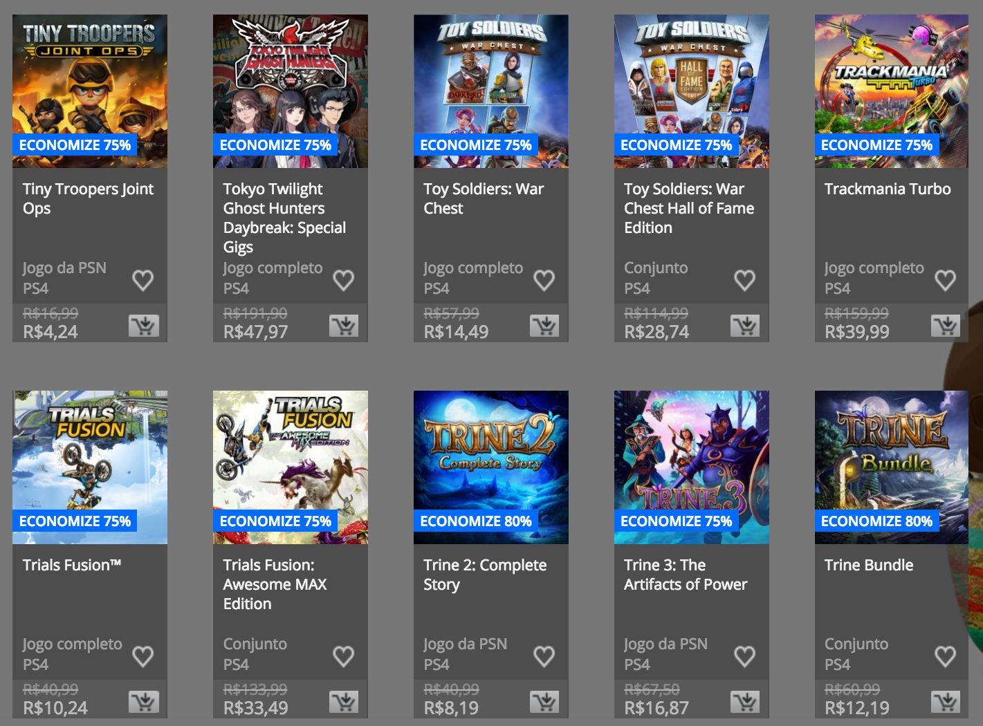 """Sony anuncia """"Promoção de Páscoa"""" na PSN; confira preços e jogos 10"""