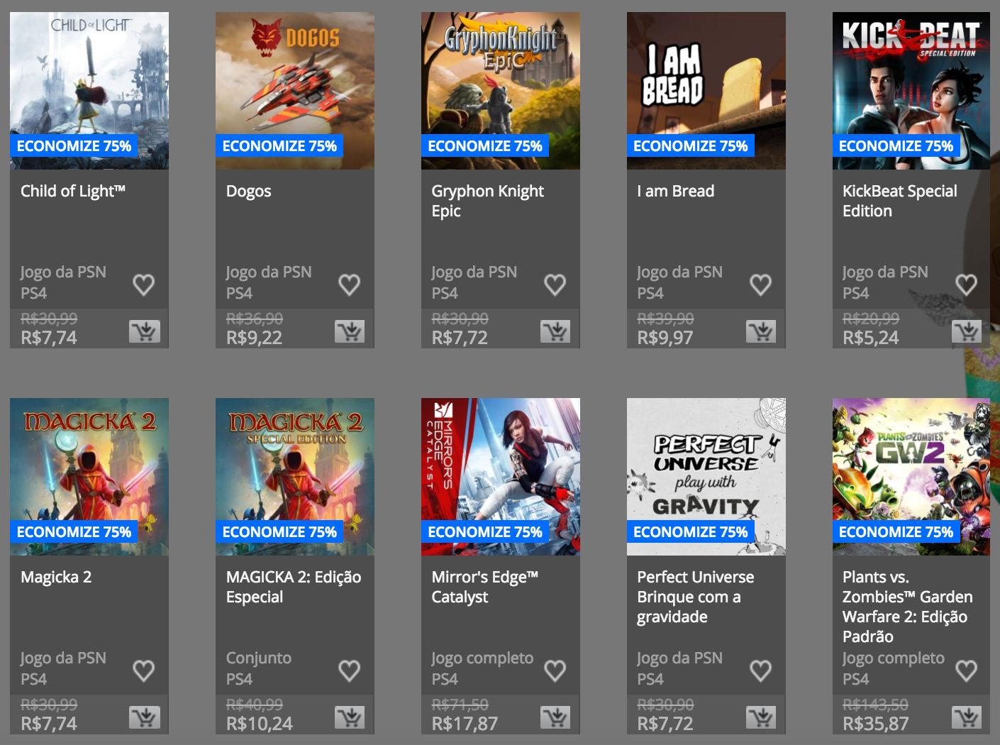 """Sony anuncia """"Promoção de Páscoa"""" na PSN; confira preços e jogos 2"""