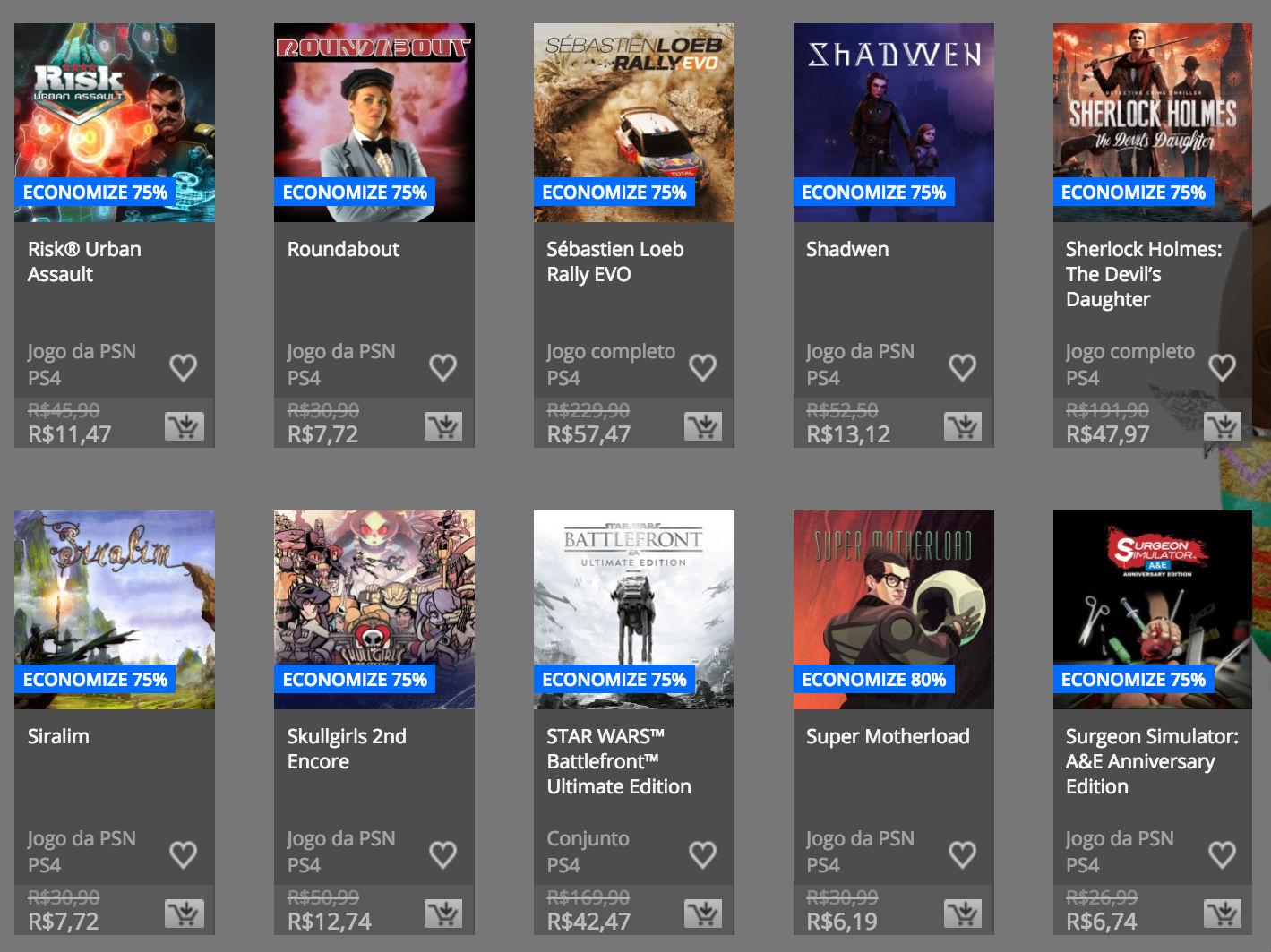 """Sony anuncia """"Promoção de Páscoa"""" na PSN; confira preços e jogos 8"""