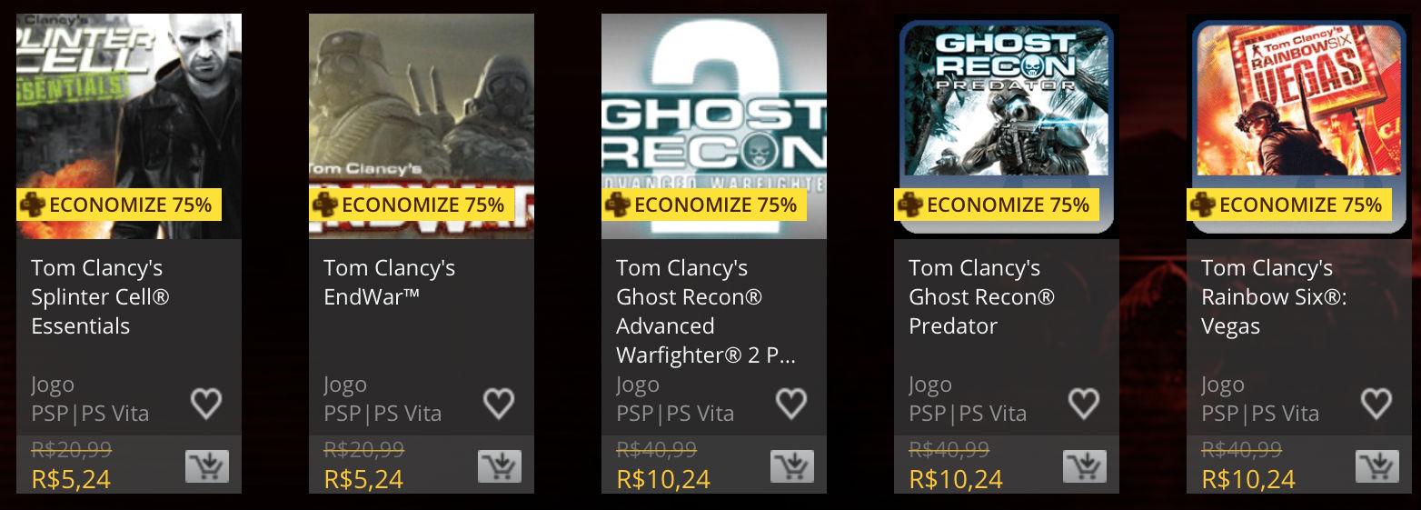 """Sony anuncia """"Promoção Tom Clancy"""" na PSN; confira 4"""