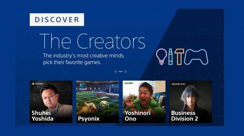 PlayStation Store recebe seção The Creators com sugestões de games dos criadores