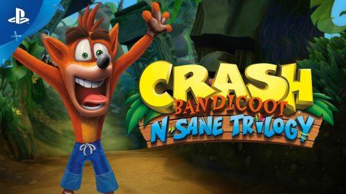 Crash Bandicoot N. Sane Trilogy é líder de vendas pela 3º vez