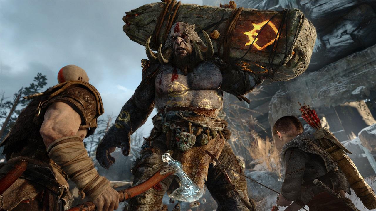 Kratos e Atreus vão enfrentar criaturas gigantes.
