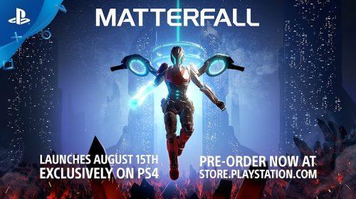 8 minutos de Matterfall, novo jogo de tiro da Housemarque