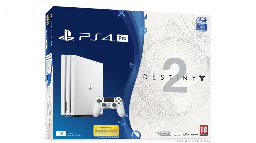 Lindo! Sony anuncia edição especial do PS4 Pro branco com Destiny 2