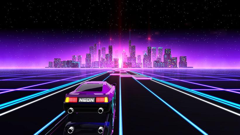Neon Drive chega esta semana ao PS4 com muitas luzes; conheça