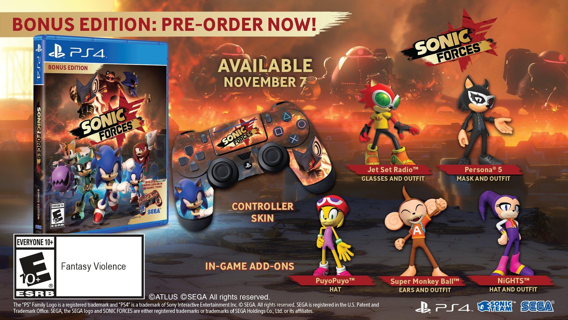 A toda velocidade! Sonic Forces chegará ao PS4 em 7 de novembro