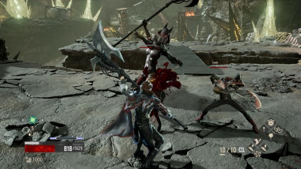 sistema de batalha de code vein