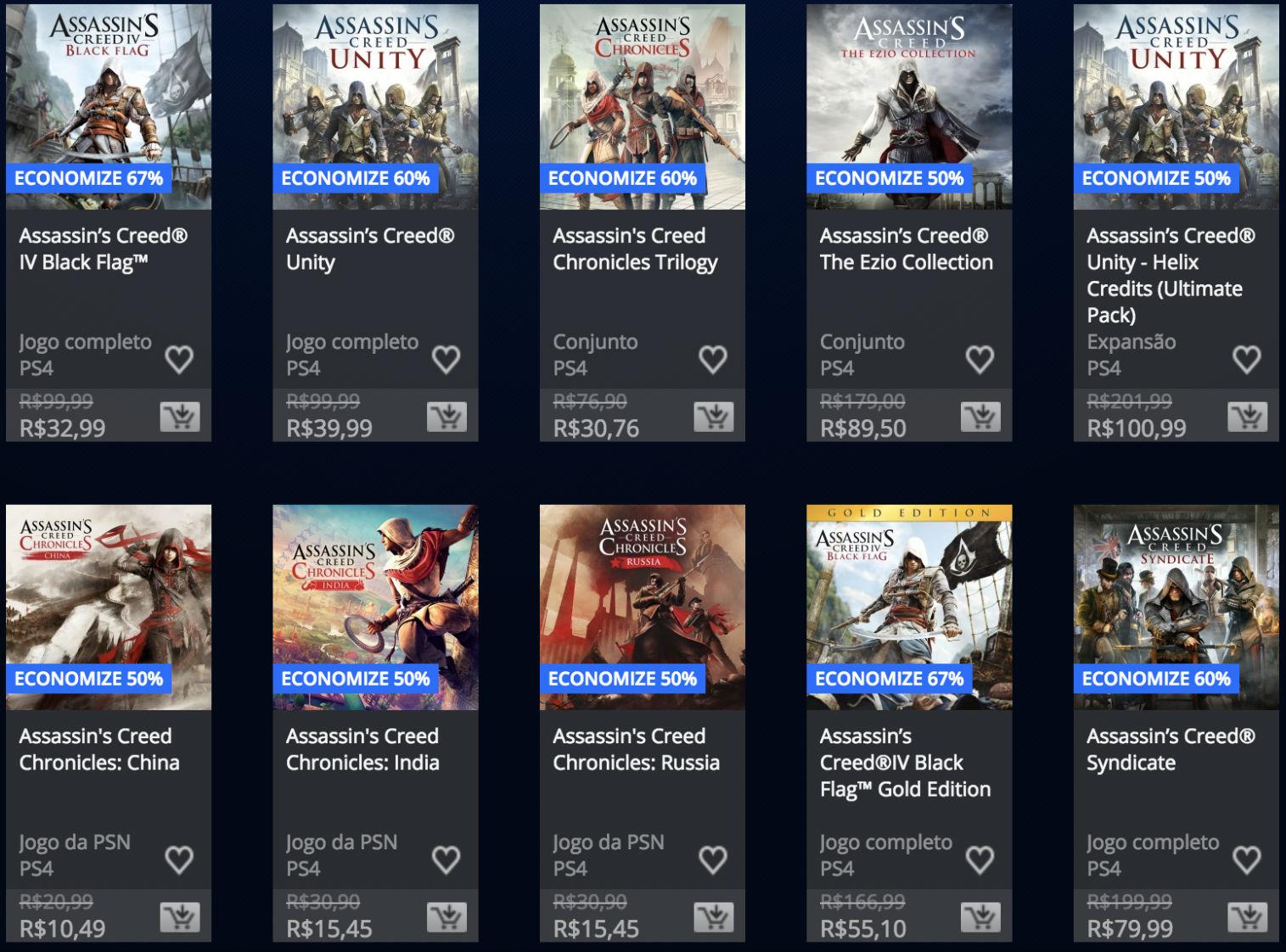 PSN oferece descontos em jogos de Assassin's Creed e Batman 1