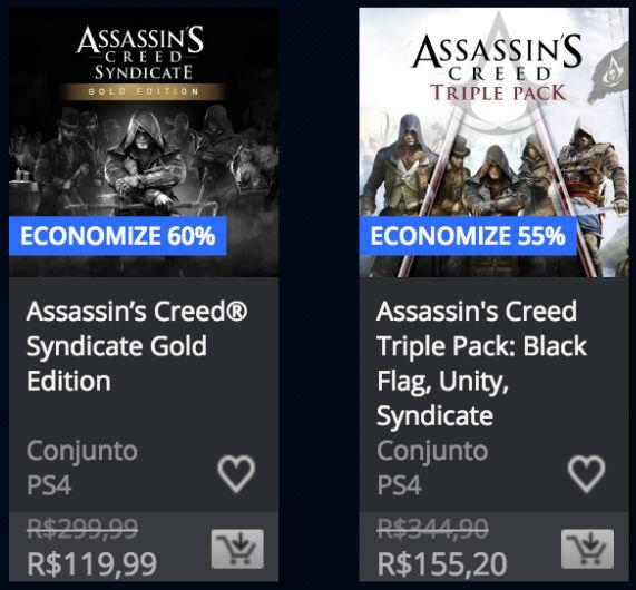 PSN oferece descontos em jogos de Assassin's Creed e Batman 2
