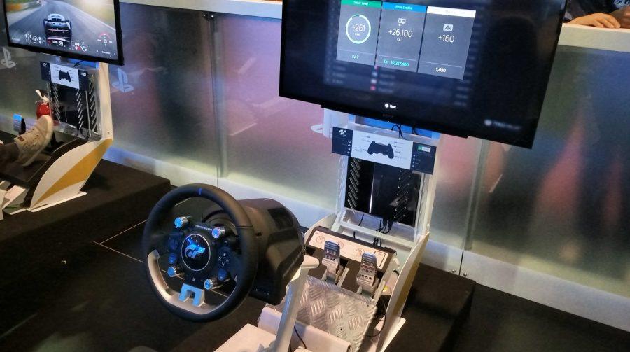 Testamos na BGS 2017: T-GT, novo volante da Thrustmaster