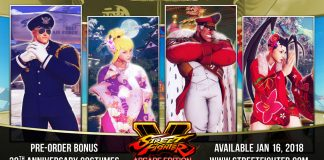 Street Fighter V - Roupas 30 anos
