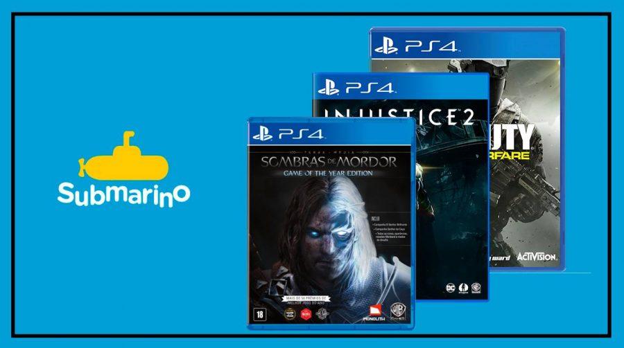 Submarino oferece descontos em jogos de PS4; veja