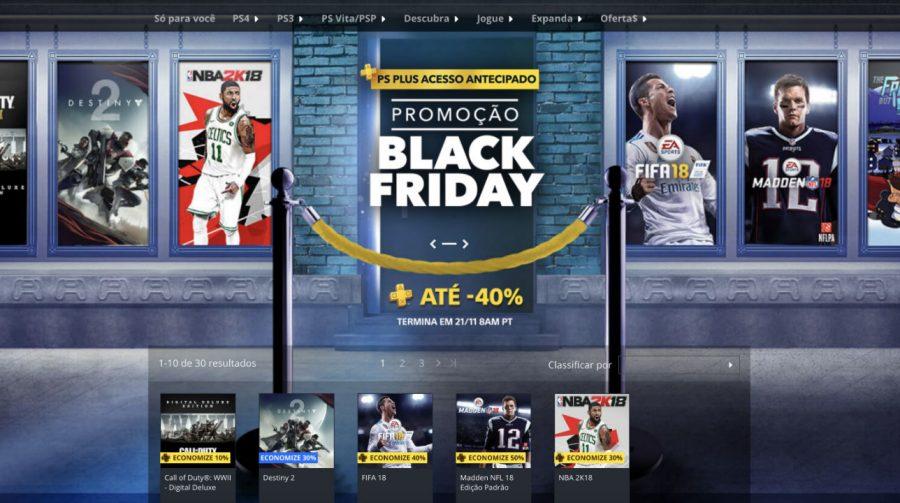 Começou! Sony inicia Black Friday na PlayStation Store; veja jogos e preços