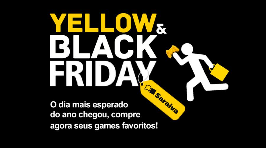 Começou! Se ligue na Yellow & Black Friday dos games da Saraiva