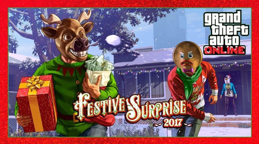 Festive Surprise, evento de Natal, chega ao GTA V; saiba mais