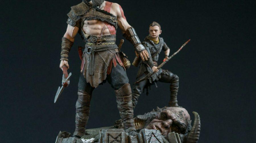 Empresa anuncia action-figure épica de Kratos em novo God of War