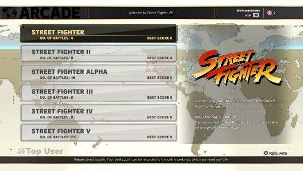 Street Fighter V - Caminhos Arcade Mode