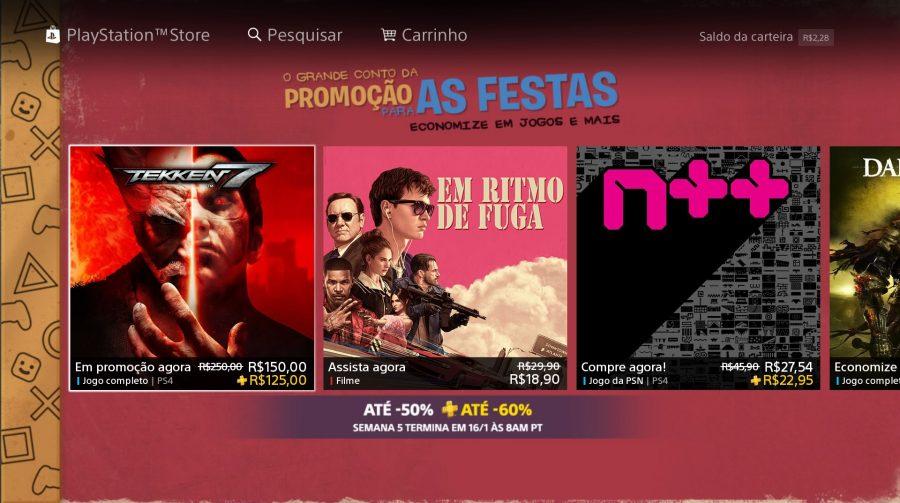 Promoção Festiva: 5º semana de descontos já está disponível na PSN