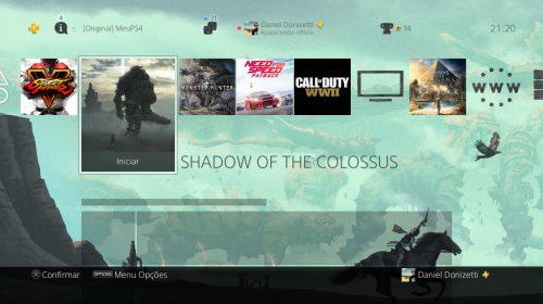 Sony oferece tema dinâmico gratuito de Shadow of the Colossus; resgate o seu!