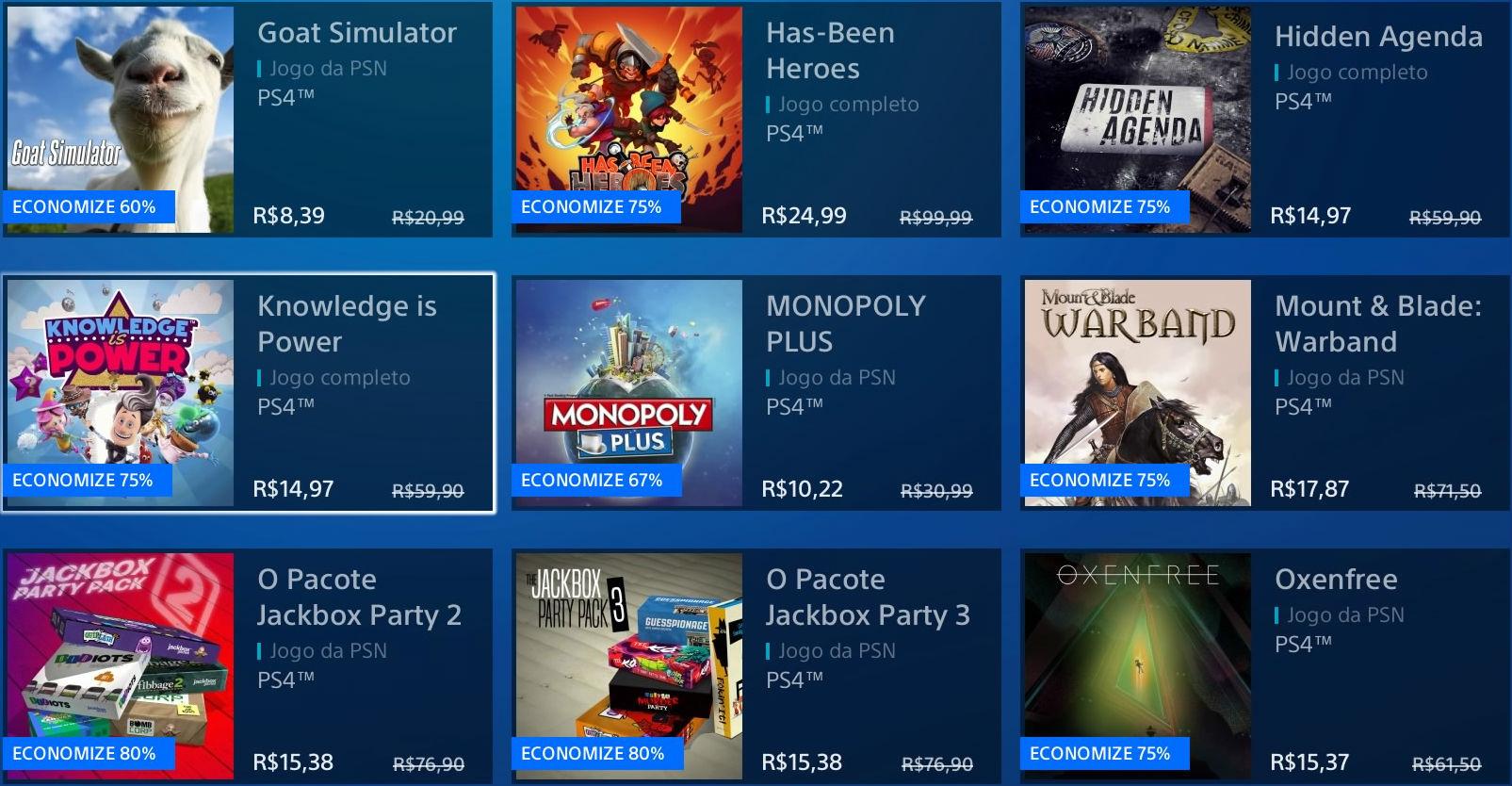 """Sony revela """"Promoção Flash"""" de Janeiro na PSN; veja jogos 3"""