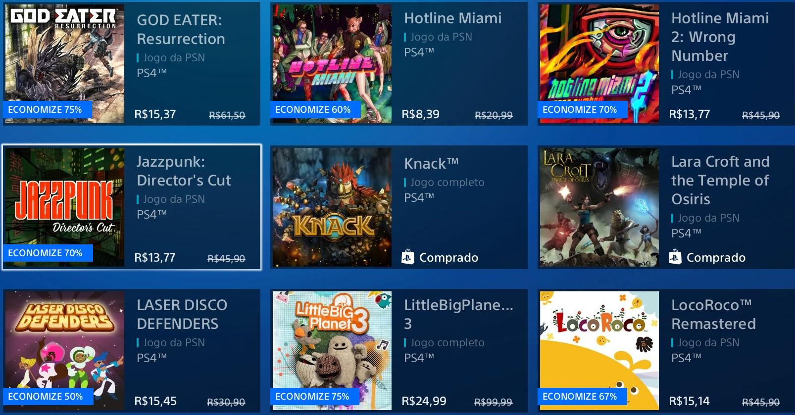 """Sony revela """"Promoção Flash"""" de Janeiro na PSN; veja jogos 6"""