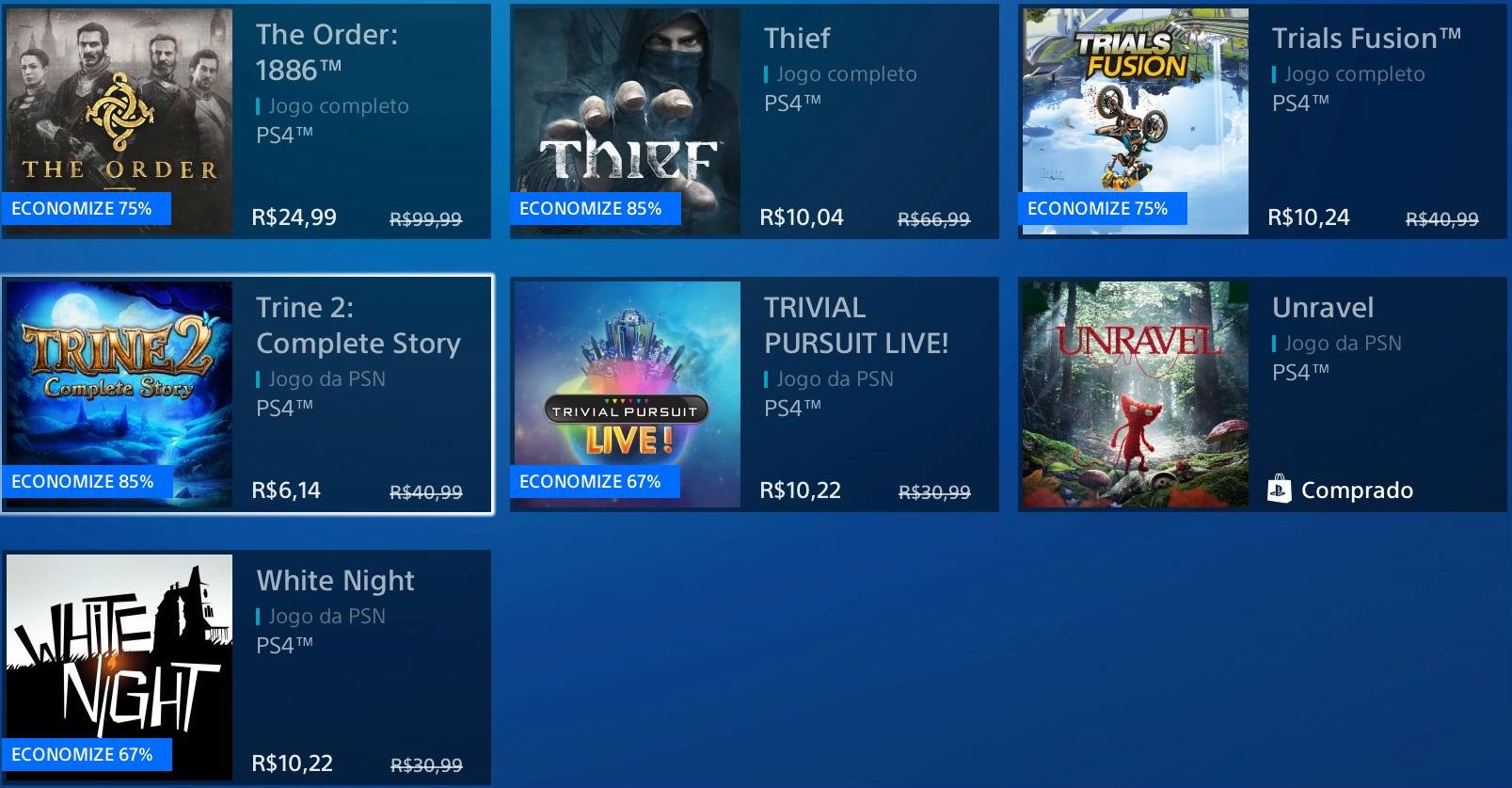 """Sony revela """"Promoção Flash"""" de Janeiro na PSN; veja jogos 9"""