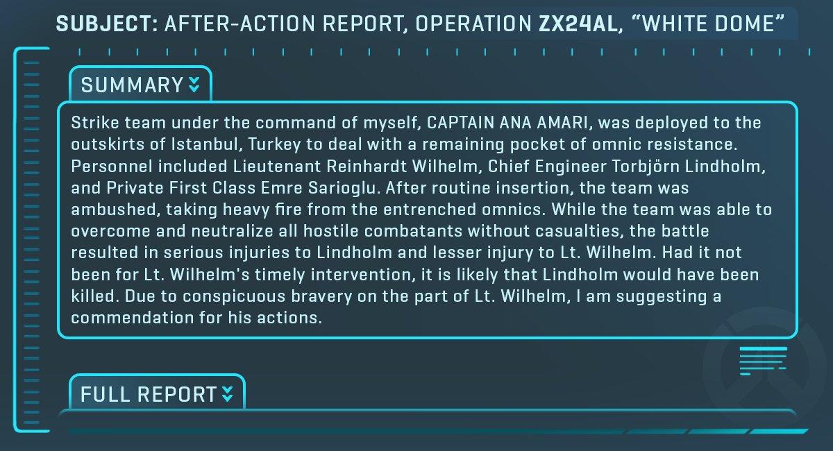 Overwatch: Detalhes de uma operação.