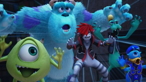 Novo gameplay de Kingdom Hearts lll revela mundo de Monstros S.A.